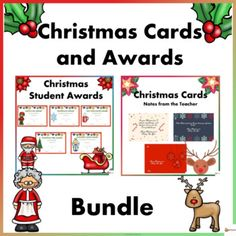 This holiday bundle include 2 of our Christmas resources. Send off your students to a fun and memorable Christmas break with our Christmas Students Awards and Christmas Cards. These cards and awards are a great way to make your Christmas party enjoyable.A. Christmas Student AwardsCelebrate the Chri...