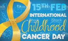 Golden Ribbon and Kid's Doodles for International Childhood Cancer Day