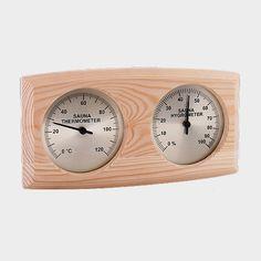 Temperatur und Luftfeuchtigkeit immer im Blick? Mit diesem praktischen Sauna-Klimamesse kein Problem. #sauna #zubehör