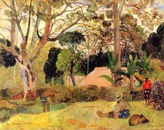 A big tree, 1891 - Paul Gauguin