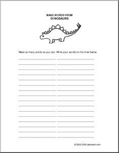 Dinosaurs, Dinosaur Theme Unit: Worksheets & Printables