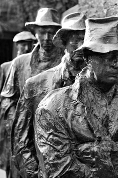 Depression Breadline photography statue series Grounds for