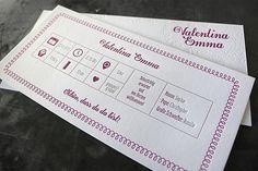 Geburtsanzeige, gedruckt in Wien auf Baumwollpapier. Letterpress, Invitations, Paper, Business Cards, Letterpress Printing, Letterpresses, Save The Date Invitations, Shower Invitation, Invitation
