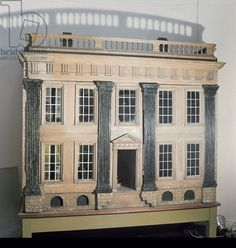 'The Great House' English doll's house, c.1750, thought to come from Cheshire or Lancashire (wood)