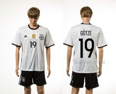 http://www.xjersey.com/germany-19-gotze-home-euro-2016-jersey.html GERMANY 19 GOTZE HOME EURO 2016 JERSEY Only 33.11€ , Free Shipping!
