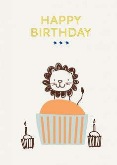 Free printable Happy Birthday - My Little Bazar & Little Cube - design and illustration for children