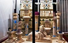 The Terrier and Lobster: Christian Louboutin Fall 2013 Ancient Egypt Store Windows