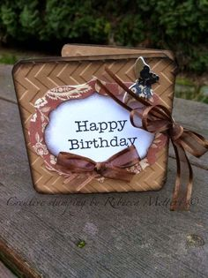 Cool Accordion Birthday Card featuring Stampin Up lovely as a tree stamp set birthday card