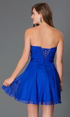 Short Corset-Back Sweetheart Party Dress -PromGirl Corset Back Dress, Tie Dress, Chiffon Flowers, Chiffon Skirt, Short Dresses, Prom Dresses, Formal Dresses, Sweet Sixteen Dresses, Prom Girl