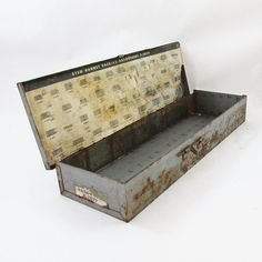 """Distressed Metal Industrial Plumbing Supplie Box """"Nice Graphics"""" by leapinglemming on Etsy"""
