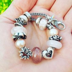 Trollbeads soft pinks and stars
