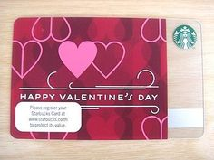 STARBUCKS HAPPY  VALENTINE'S DAY GIFT CARD - 2013 COLLECTIBLE ITEM WITH SLEEVE