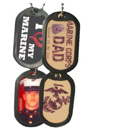 Custom dog tags for families with deployed loved ones. (Not Marine Corps Specific)