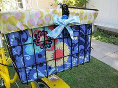 bike basket linner/tote bag. Good Link w/Instructions, 01/26/13... CAH #totebag #shellyssewingshrapnel #bikebasket
