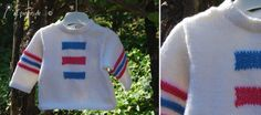 Knit spring sweater for toddlers handmade in Italy by Atelier Faggi. Maglioncino fantasia bianco/blu/fucsia