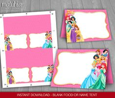 Disney Princess Food Tents