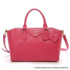 Samantha Thavasa Vega x Hello Kitty Azayle Tote Shoulder Bag Pink Large JAPAN