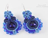 Elegant and unique earrings made soutache