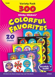 Stinky Sticker Colorful Favorites Var... (bestseller)