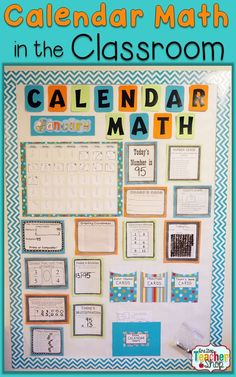 Calendar Math for Upper Elementary BUNDLE! Includes Bulletin Board Activities, Calendar Pattern Cards, Student Workbooks, and MORE! Calendar Math made easy. 5th Grade Classroom, Fourth Grade Math, Second Grade Math, Third Grade, Grade 2, Classroom Ideas, Second Grade Calendar, Classroom Organization, Classroom Management