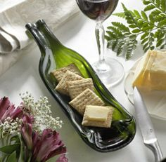 Wine Bottle Crafts Projects | wine bottle serving tray | Craft Project Ideas