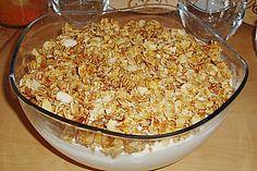 Mandarinen - Quark - Traum mit Mandelkrokant (Rezept mit Bild)   Chefkoch.de