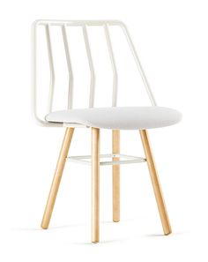 The Leo Chair is armless, elegant, and bold. This chair features dowel legs and a unique curved back. Steel frame …
