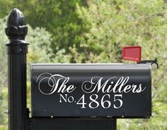 Custom Mailbox Decal with Name and House Number / Mailbox Decal