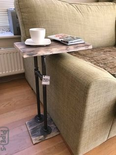 Industrial Side Table Loft Style Table Pipe Table