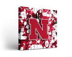 Nebraska Cornhuskers Canvas Wall Art Fight Song Design (12x12)