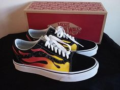 Check out this item in my Etsy shop https://www.etsy.com/listing/586888109/custom-vans-vans-old-skool-flame-with