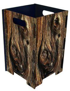 DIY Wooden Waste Paper Bin Office Bin or Waste Can Large Knothole Wood