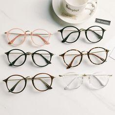 38 ideas for glasses frames trendy eyeglasses Circle Glasses, Fake Glasses, New Glasses, Korean Glasses, Clear Round Glasses, Cute Sunglasses, Cat Eye Sunglasses, Soft Grunge, Harajuku Mode
