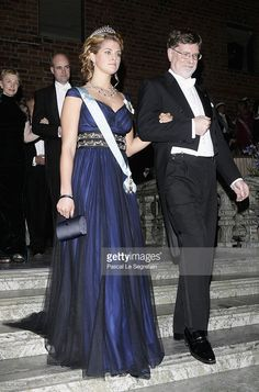 Princess Madeleine of Sweden and Physics Nobel Prize George F. Smoot arrive to attend the Nobel Foundation Prize 2006 Gala Dinner at the City Hall on December 10, 2006 in Stockholm, Sweden.