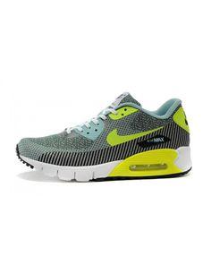 650509396d Femme Nike Air Max 90 Jacquard Gris Jaune Chaussures