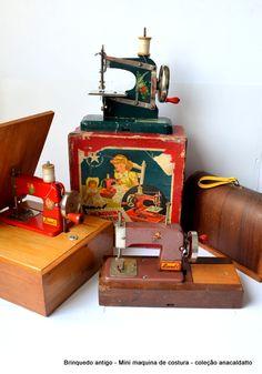 Coleção Antigo Brinquedo Mini Maquina de Costura de metal