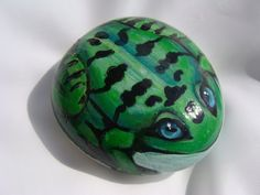 frog painted rock | Painted Rock frog