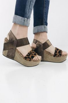 a18f8af78a6 Everyone s favorite OTBT inspired wedge! Features a thick-strapped platform  wedge with a slingback