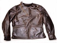 Arrowhead Pullover Racing Jacket (1939) Oak Black American Steerhide