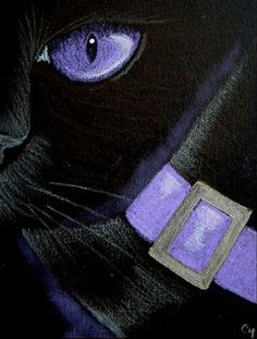 """Black Cat - Halloween"" par Cyra R. Chalk Pastel Art, Chalk Pastels, Sad Eyes, New Glasses, Eye Art, Cat Drawing, Art Portfolio, Types Of Art, Black Cats"