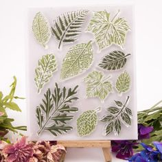 Leaves Rubber Clear Stamp for Card Making Decoration and Scrapbooking