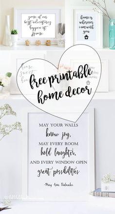 FREE home printable decor - Easy print at home decor - Little Blonde Mom Blog #blogger #printables #homedecor #home