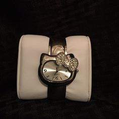 Hello Kitty stainless steel watch Stainless steel Hello Kitty water resistant watch. Needs a new battery. Hello Kitty Accessories Watches