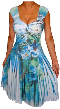 4591cd45c7d Plus Size Women Empire Waist A Line Swing Cocktail Dress New Made in USA