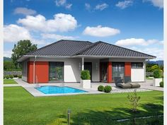 Bungalow 2118T_rot_schwarz Style At Home, Bungalow, Mansions, House Styles, Outdoor Decor, Home Decor, Houses, Architecture, Red Black