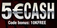 TurboPoker offre a tous les nouveaux joueurs un bonus de 5€ gratuits sans dépôt.Cette offre est valable jusqu'au 31 decembre 2013.