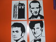 This -n- That: Doctor Who Stencil Art - Canvas