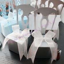 Free Shipping 1000pcs Silver Chair Favor Boxes TH002-A2 Wedding Decoration and Wedding Gift(China (Mainland))