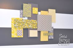 Home Dec Tutorial:  DIY Custom Wall Art with Fabric + Foam (Its easier than you think!)