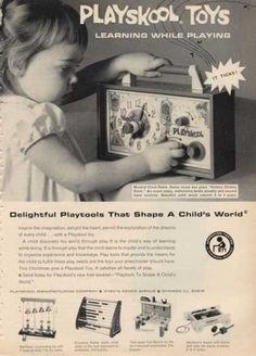 Playskool Musical Clock Radio Toy (1964)
